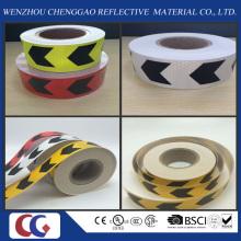 Fita reflexiva do PVC da seta com estrutura de cristal