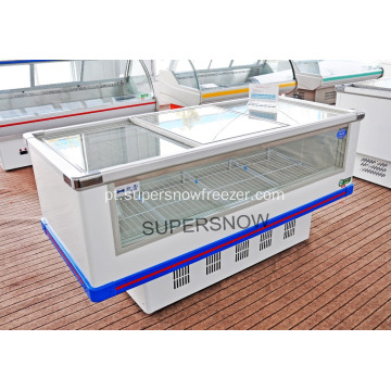 display de freezer / freezer de ilha comercial popular