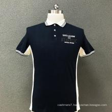 Men's cotton printed polo T-shirt