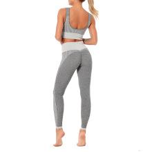 Fabricant de leggings gris OEM