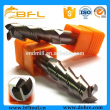 BFL Herramienta de corte de fresado de extremo de alivio doble, herramientas de corte de aluminio
