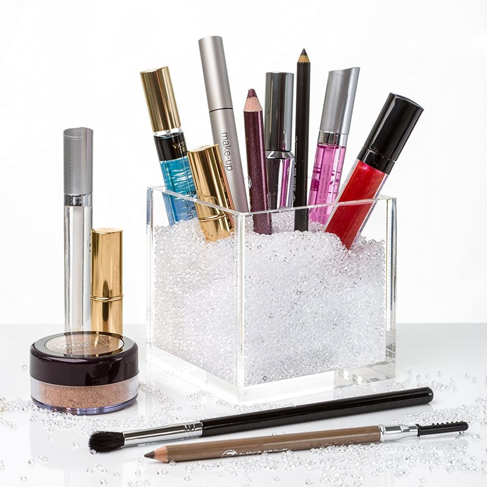 Acrylic Cube Makeup Brush Holder