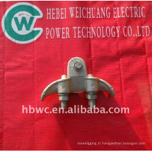 tour de transmission électrique, pince de suspension galvanisée à chaud