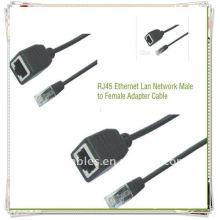 Adaptateur RJ45 de haute qualité Câble mâle à femelle Câble adaptateur réseau LAN Ethernet