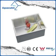 Pia de cozinha de aço inoxidável embutida artesanal (ACS5043A1)