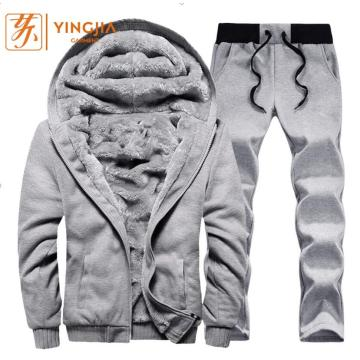 Winter Plus Velvet Sweatshirt Seluar Set Suit Seluar