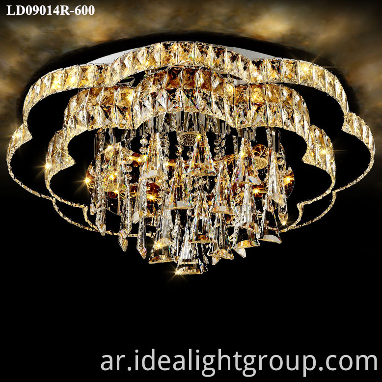 round led chandeliers