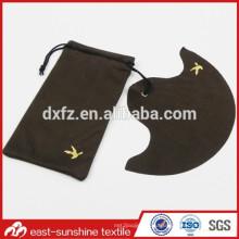 Рекламные пользовательские Золотой логотип нажата Microfiber очки Ткань и мешочек