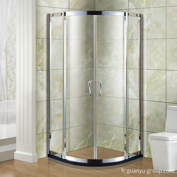 Round #304 Stainless Steel Simple Shower Room