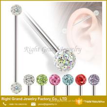 Novo design de aço Inoxidável body piercing jóias Barbell Industrial