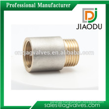 1/2 inch 10 15 20 25 mm Female Forged Nature Brass or Nickel or chrome plated Yellow thread brass copper Nipple Socket