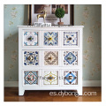 Antique Fir Wood Storage Cabinet white color for living room