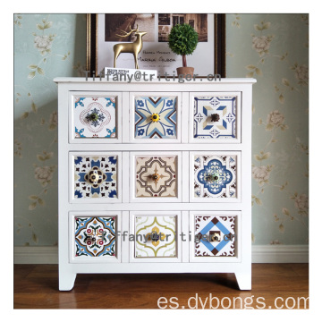 Wholesale Vintage Shabby Furniture Wooden Storage Cabinet for entrance