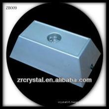 Rectangle Plastic LED Light Base for Crystal