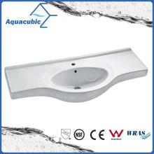 Semi-Recessed Bathroom Ceramic Cabinet Basin Hand Washing Sink (ACB4412)