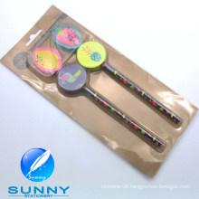 2015 lápis de madeira com papelaria Eraser Blister Card Set