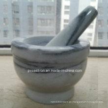 Argamassas e pilões de pedra de mármore Fabricante China Size 14X10cm
