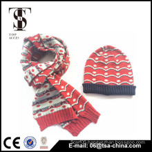 2014 fashion custom winter hat knitted beanie winter scarf