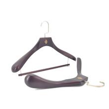 Luxury dark wooden locking bar wooden hotel closet suit hanger