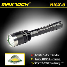 Maxtoch HI6X-8 acero montaje Rechageable 1000LM antorcha linterna militar