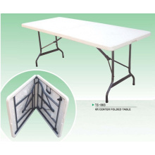 Outdoor Furniture Series 72inch White Commercial Grade Plastic Folding Picnic Table