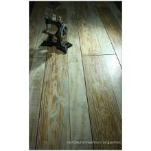 Commercial 12.3mm Hand Scraped Oak V-Grooved Laminate Floor