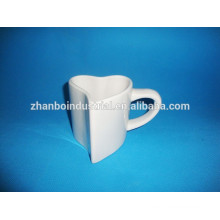 Heart shape mug /valentine porcelain mug with custom design