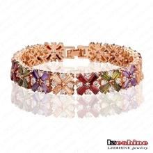 Bracelets de mariée en marbrure en or zircon doré (CBR0011-C)