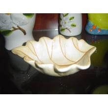 Plato en forma de hoja de cerámica Plato pequeño