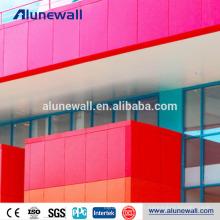 FEVE Coating 2M largeur A2 B1 ignifuge en aluminium composite panneau de revêtement de mur rideau