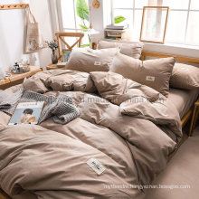 Hot Sale Condo Solid Sandy Brown High Quality Cotton Fabric Bed Sheet