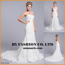 2016 sereia sexy vestido de casamento tecido de renda painel sereia sereia casamento querido vestidos de noiva