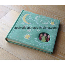 Love Design Embroidery Faux Suede Photo Album