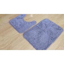 100% polyester microfiber chenille bathmat set