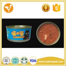 Produção de alimentos para animais de estimação fábrica de vendas de atum fresco alimentos de gato enlatados