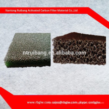 manufacturing all kinds of pore size black filter Activated Carbon Foam