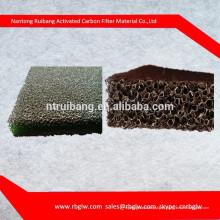 fabricação de todos os tipos de tamanho de poro preto filtro De Espuma De Carbono Ativado