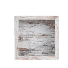 10x10'' Square Customized Cheap MDF Distressed White Money Box Bank 3D Shadow Box Photo Picture Frames