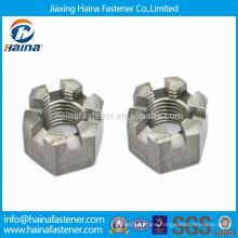 DIN935 Stainless Steel Castle Nuts Hex Slotted Castle Nuts with Metric Coarse and Fine Pitch Thread