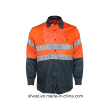 100% Baumwolle, hochreflektierende Sicherheitsarbeitskleidung