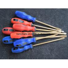 Chave de fenda não de ignição da liga de cobre de 6 * 150mm, chaves de fenda de bronze