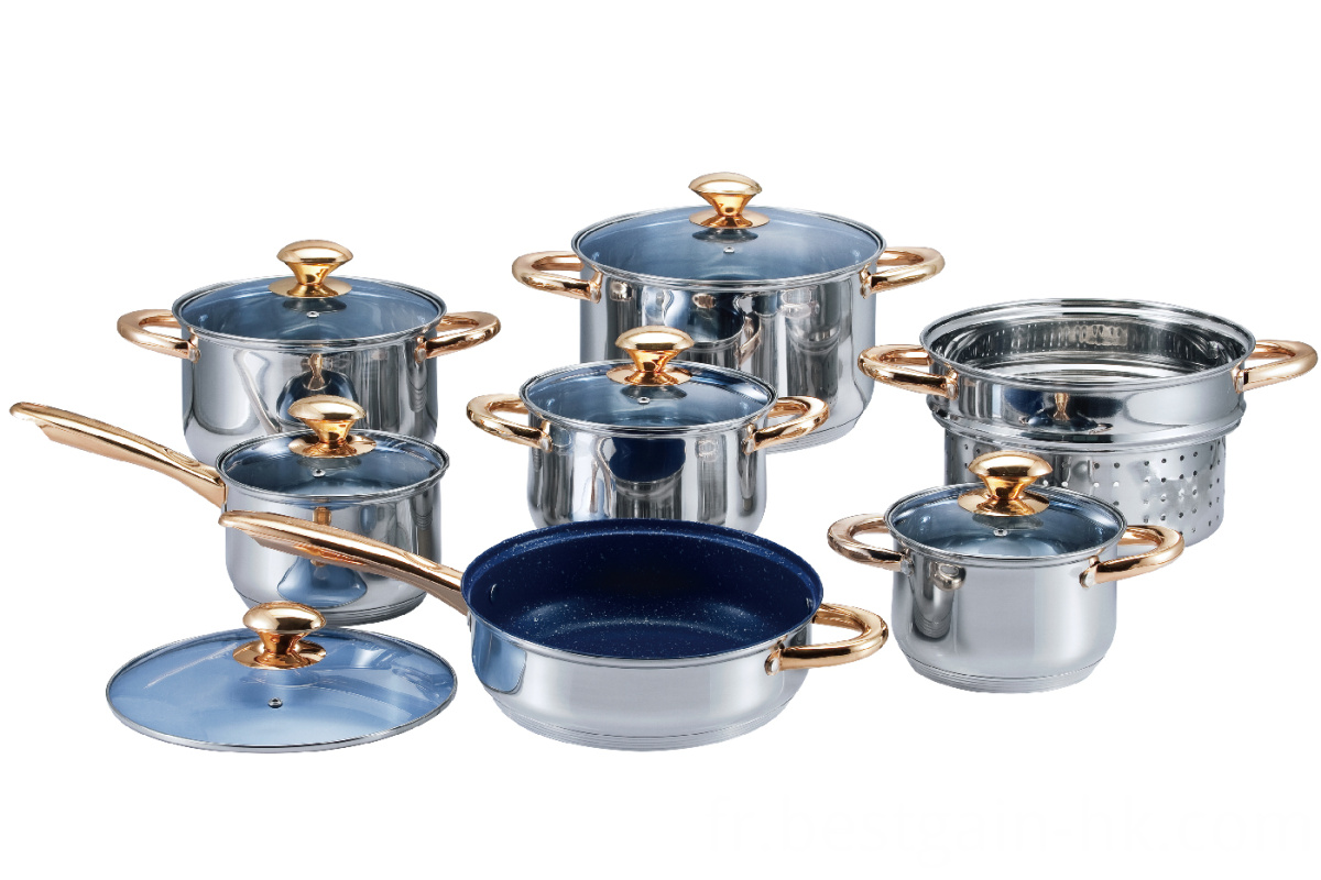 Cookware Set with Sandwich Bottom
