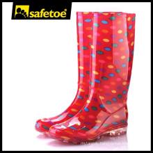 Rubber cowboy rain boots women W-6040B