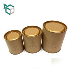 Paper Cardboard Tube Cylinder Paper Round Gift Packaging Box with tin
