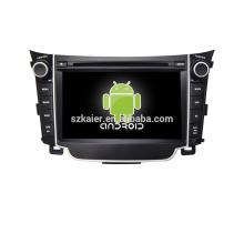 Quad core! DVD de coche con enlace de espejo / DVR / TPMS / OBD2 para la pantalla táctil de 7 pulgadas 4.4 core sistema Android Hyundai I30