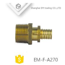 EM-F-A270 en laiton de diamètre différent tuyau flexible adapté aux besoins du client de précision raccords de tuyauterie avec des vis de réglage