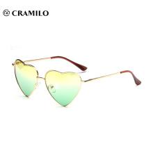 15515 Cramilo heart shape double color lens fashion custom frame sunglasses