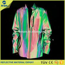 nueva tela reflexiva del arco iris de la llegada para la ropa de moda o la chaqueta