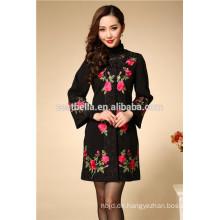 Frauenjacke langer Artentwurf druckte Frauenart und weisemantel China klassischer Trenchcoat