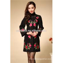 Casaco feminino de estilo longo, design, impresso, mulheres, casacos de moda, clássico, trincheira